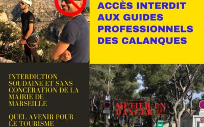 Les guides des calanques face à une politique abusive et incohérente de la mairie de Marseille